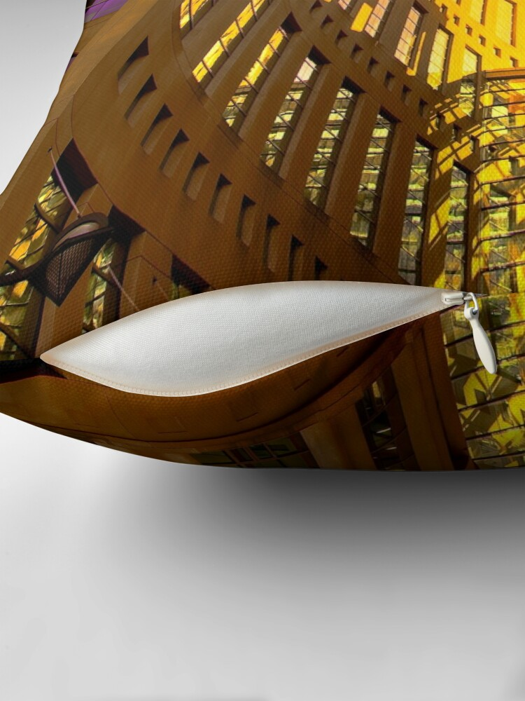 Alternate view of Vancouver Public Library Throw Pillow