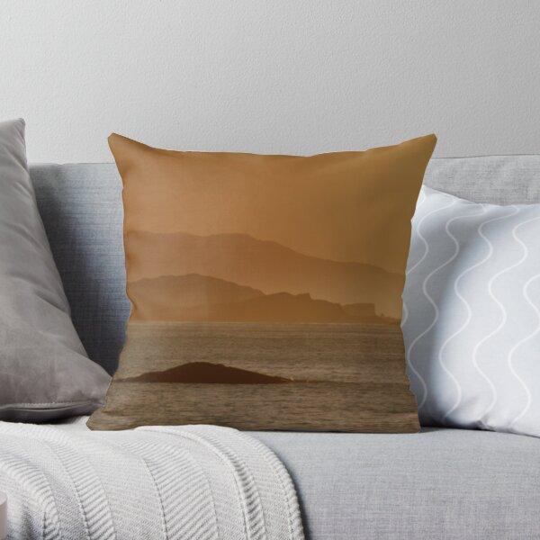 Fladda Lighthouse Throw Pillow