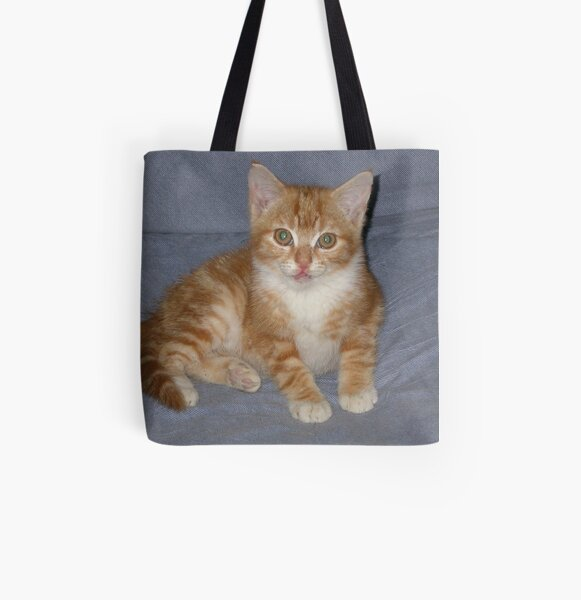 Angus as a Kitten All Over Print Tote Bag