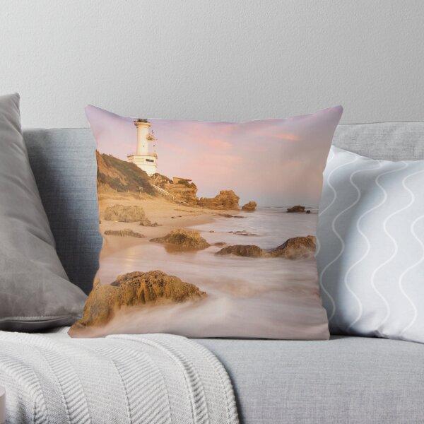 The Stubborn Lighthouse Throw Pillow