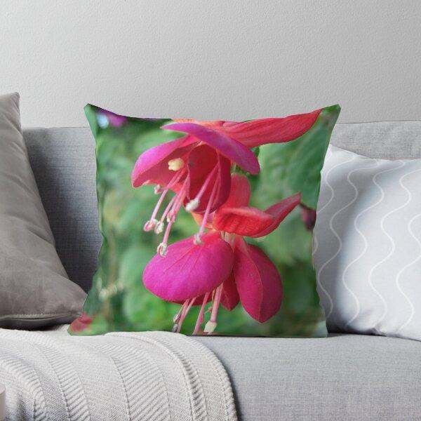 Fuchsia 4 Throw Pillow