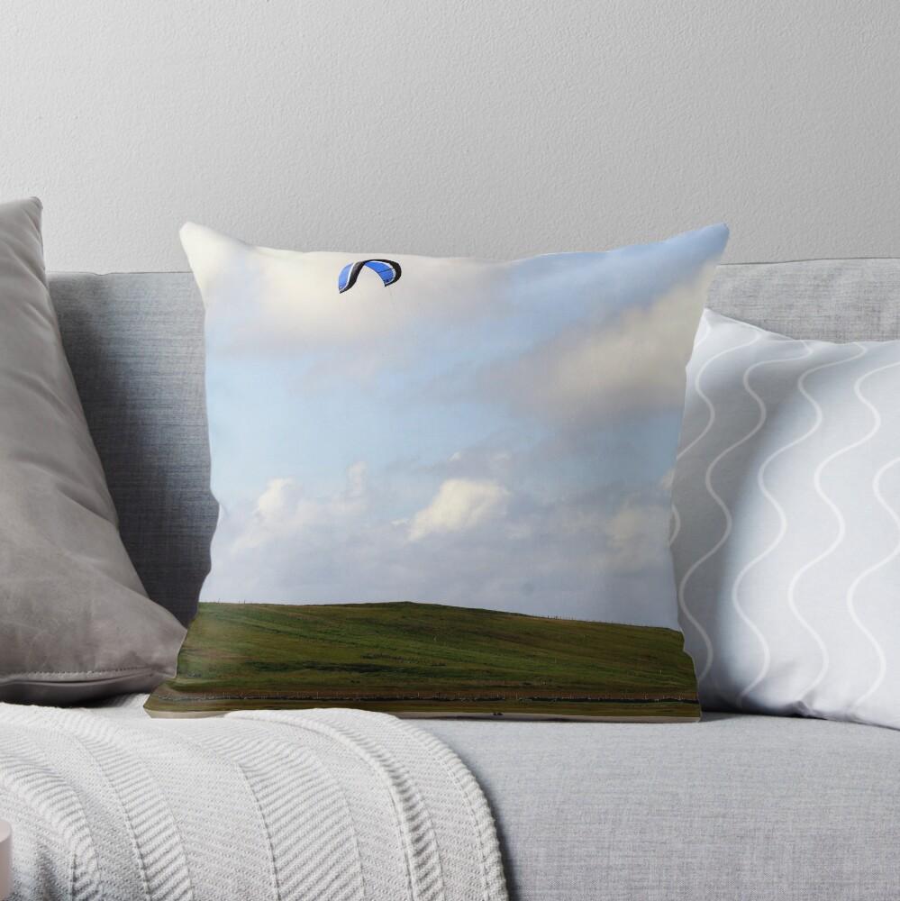 Kite-Surfer Throw Pillow