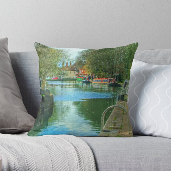 The Kennet and Avon Canal - Newbury  Throw Pillow