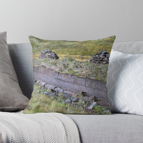 Peat-Stacks Throw Pillow