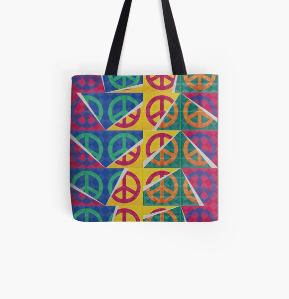 Peaces All Over Print Tote Bag