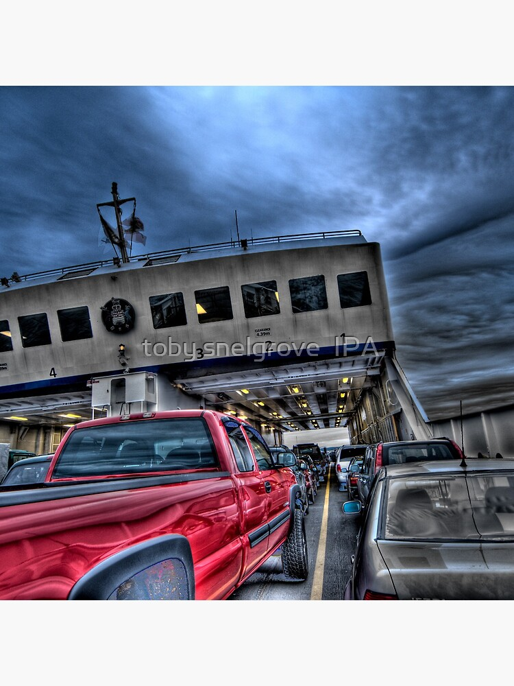 Red Truck on the Ferry by tobysnelgrove