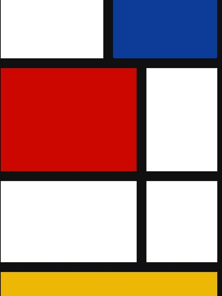 De Stijl #1 (Mondrian Inspired)  by Texterns