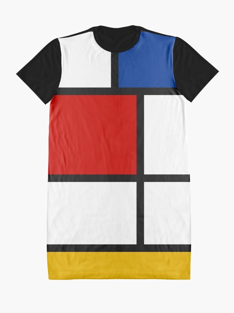 Alternate view of De Stijl #1 (Mondrian Inspired)  Graphic T-Shirt Dress
