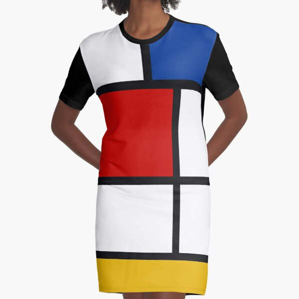 De Stijl #1 (Mondrian Inspired)  Graphic T-Shirt Dress