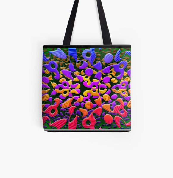 Crossed All Over Print Tote Bag