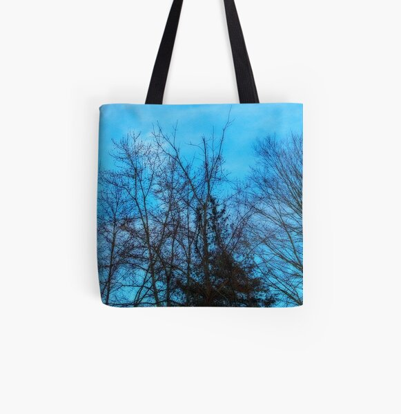 Blue All Over Print Tote Bag