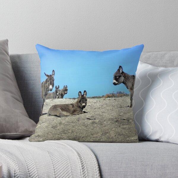 Wild Ass Times Throw Pillow