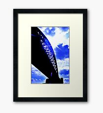 contrast between the bridge and the sky :D Framed Print