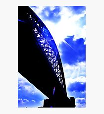 contrast between the bridge and the sky :D Photographic Print