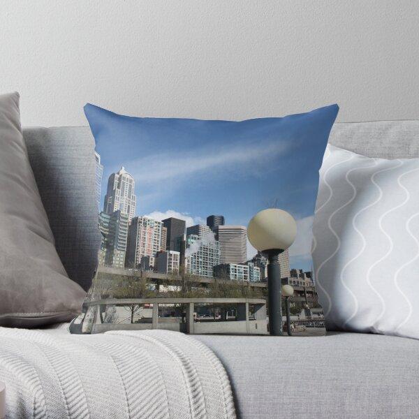 Seattle, sometimes Throw Pillow