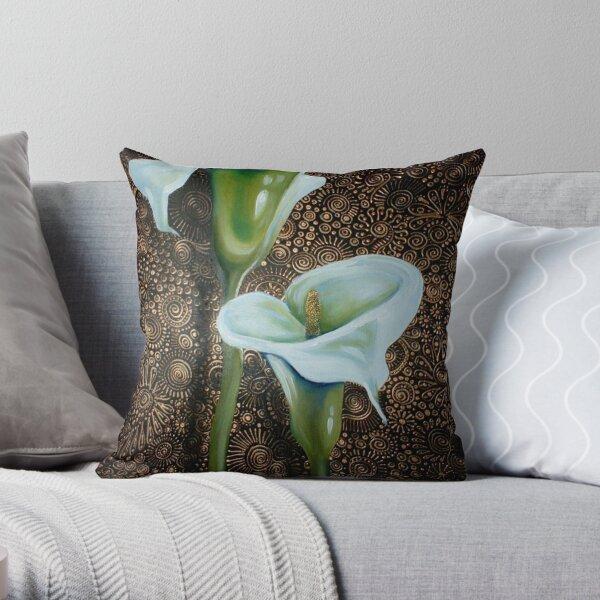 Arum Lilies Throw Pillow