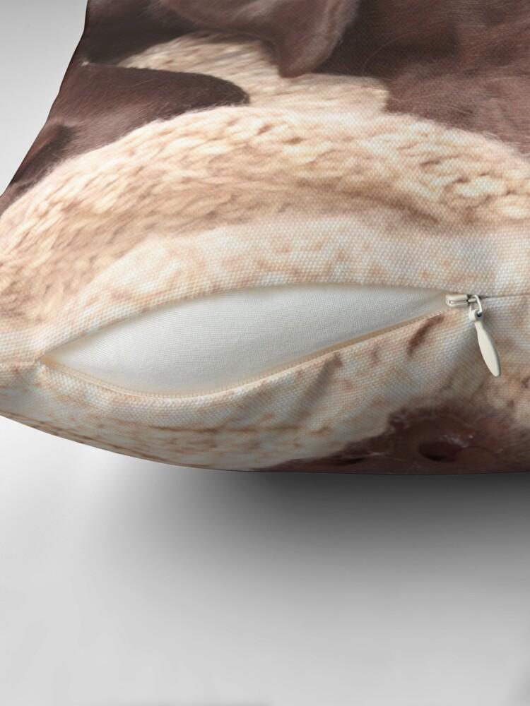 Alternate view of Chocolate Lab Throw Pillow