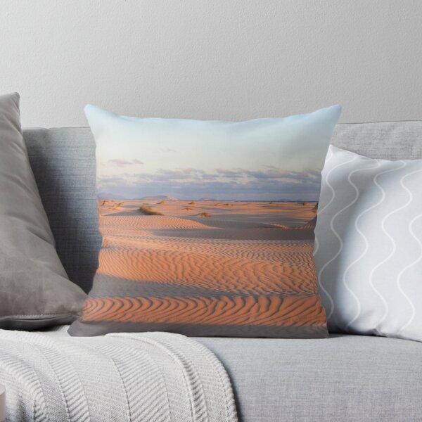 Dunes at sunset 2 Throw Pillow