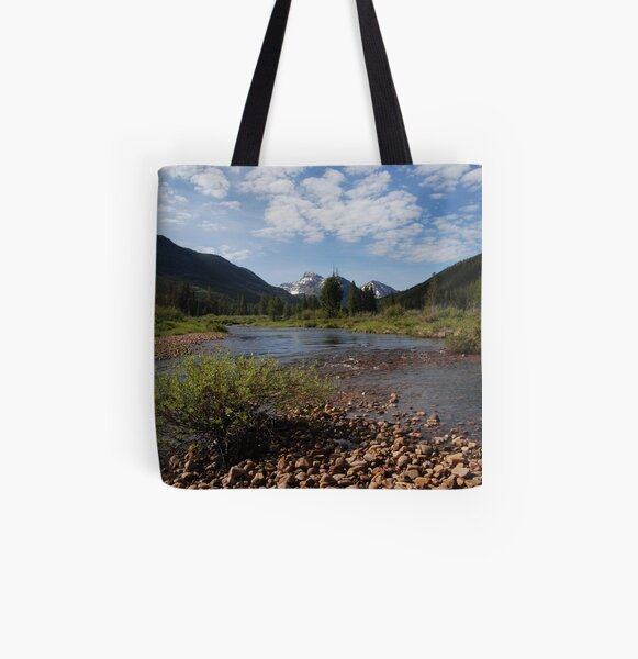 In thy mountain retreat, God will strengthen thy feet All Over Print Tote Bag