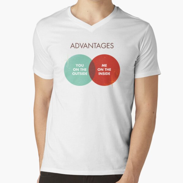 Advantages to both - Disco Ball Variant V-Neck T-Shirt