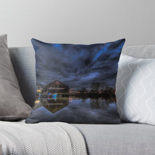 Weather over the South Fraser Throw Pillow