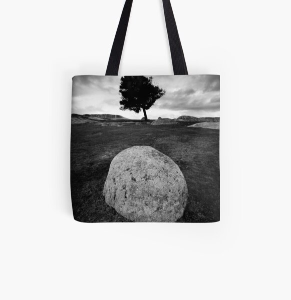 Black and White Egg All Over Print Tote Bag