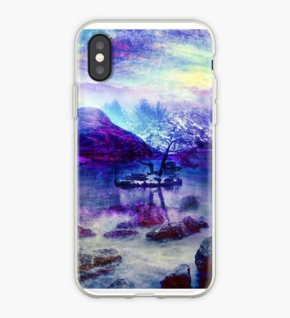 Abstract Winter Lake iPhone Case