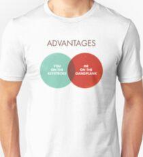 Advantages to both - Disco Ball/Lyric Variant Unisex T-Shirt