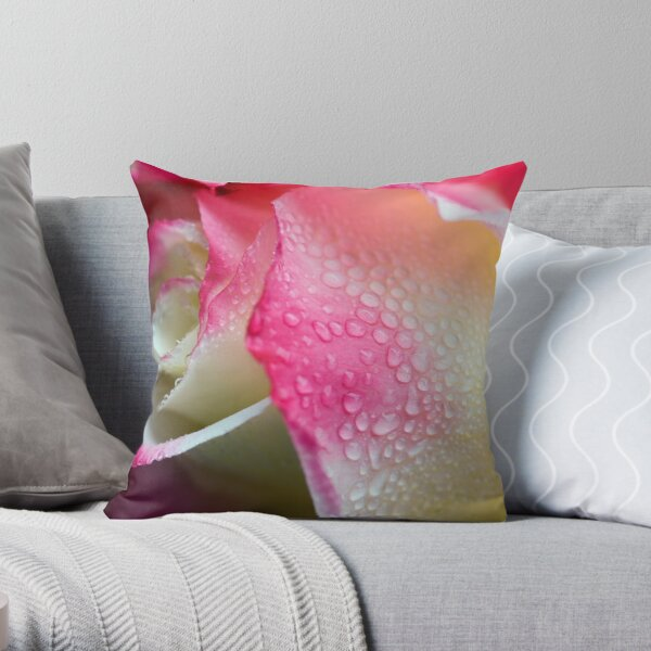Dewy Beauty Throw Pillow