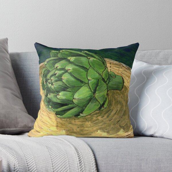Spring Artichoke Throw Pillow