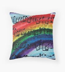 I Can Sing a Rainbow Throw Pillow