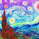 Bunte sternenklare Nachtzusammenfassung Van Gogh von CoitoCG
