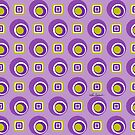 Purple Circles Squares by Lois Eastlund