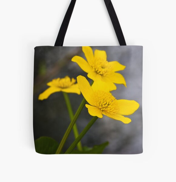 Lesser Celandine (Ranunculus ficaria) All Over Print Tote Bag