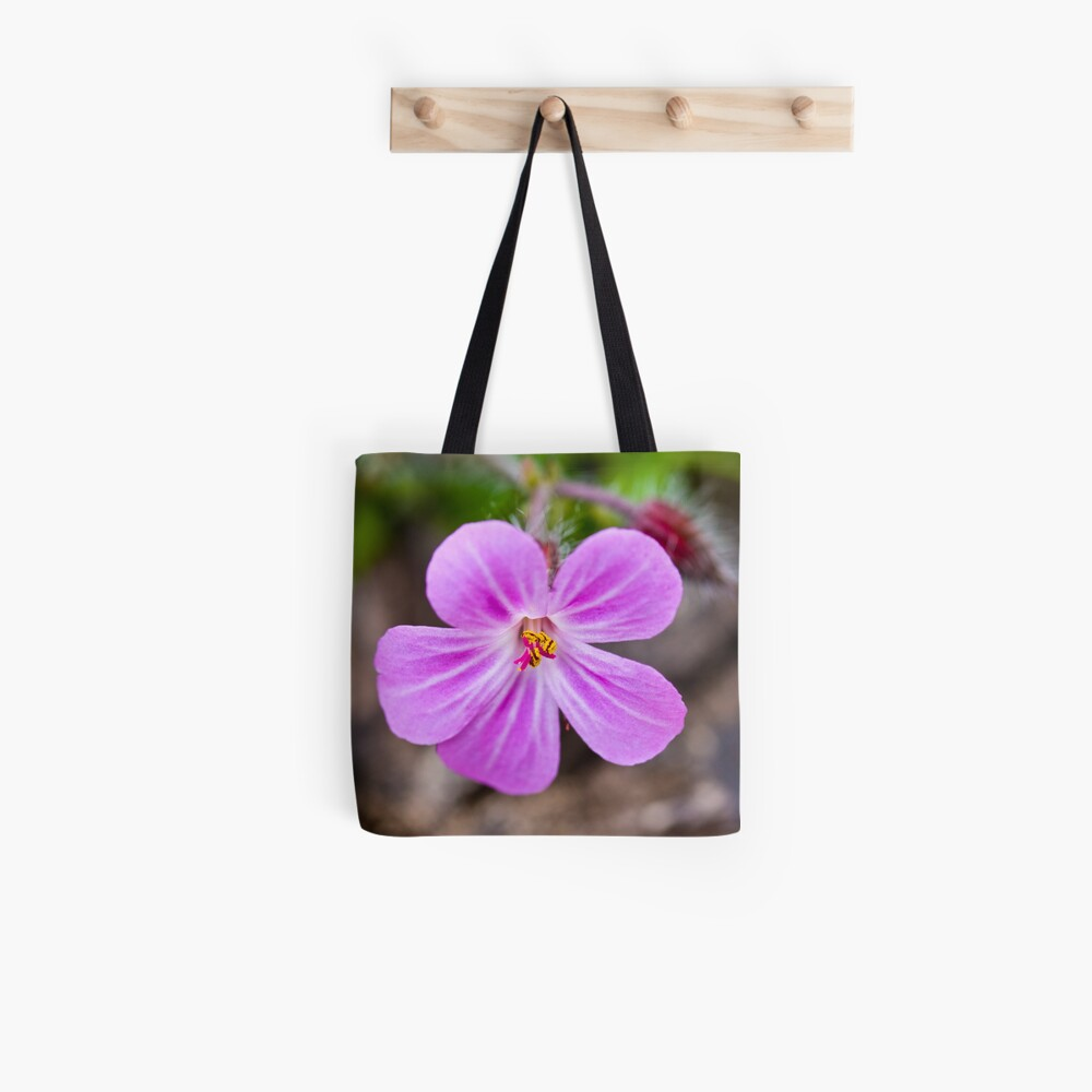 Herb Robert (Geranium robertianum) Tote Bag