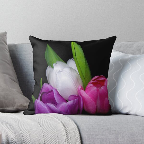 Tulips in Pastel Throw Pillow