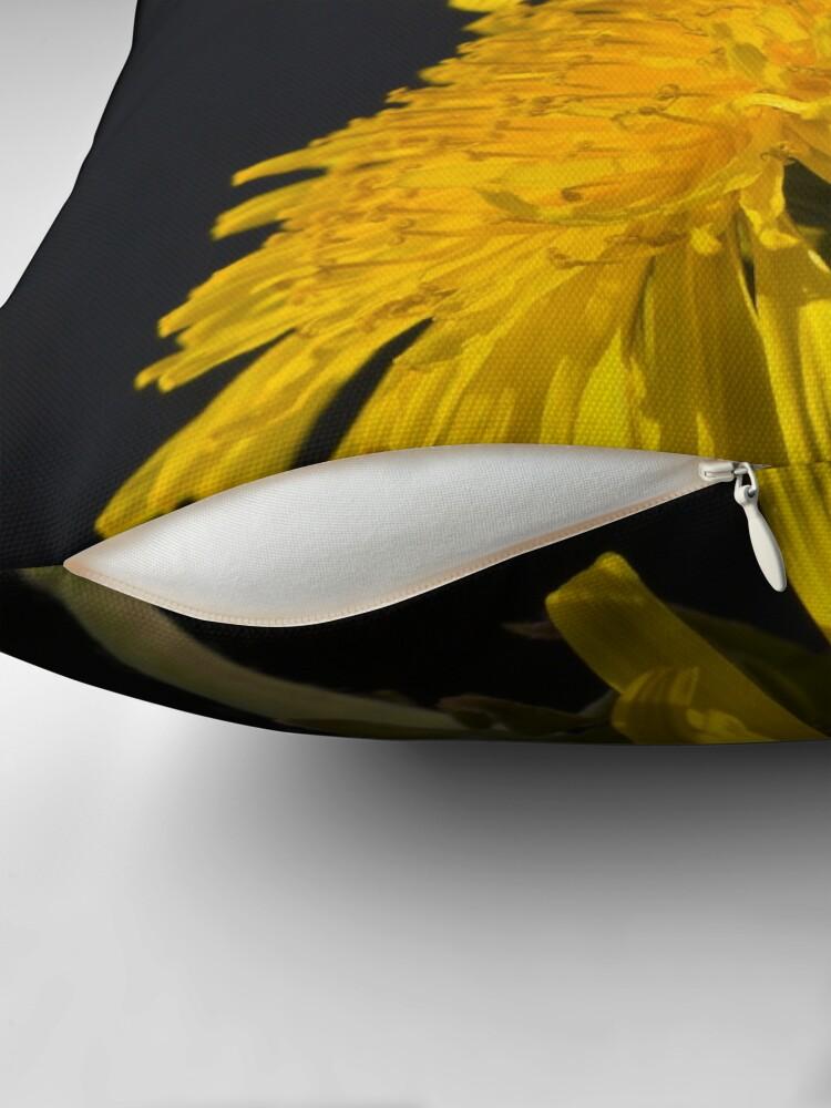Alternate view of Three Dandelions (Taraxacum officinale) Throw Pillow