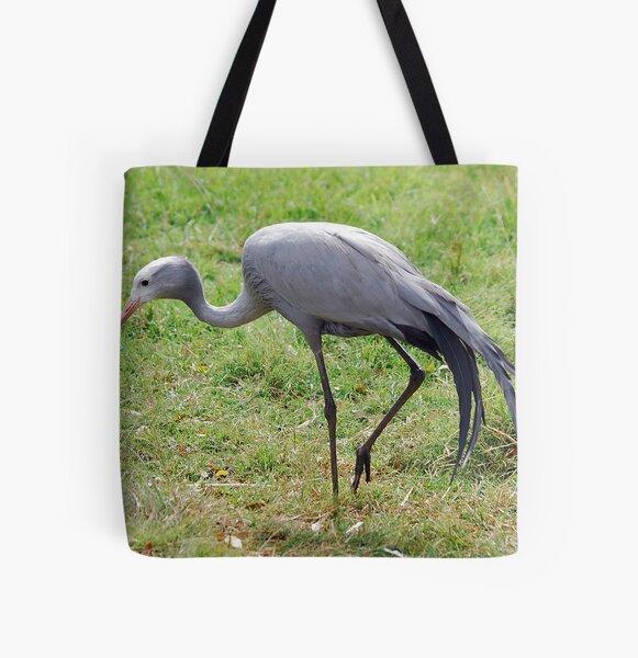 Blue Crane All Over Print Tote Bag