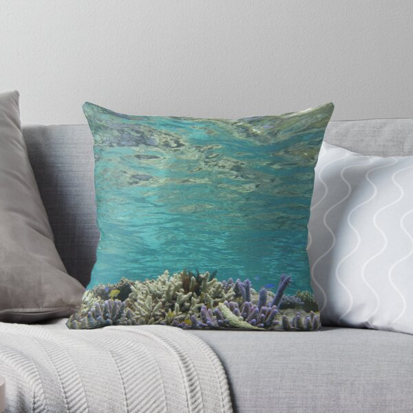 Coral Reeflections II Throw Pillow