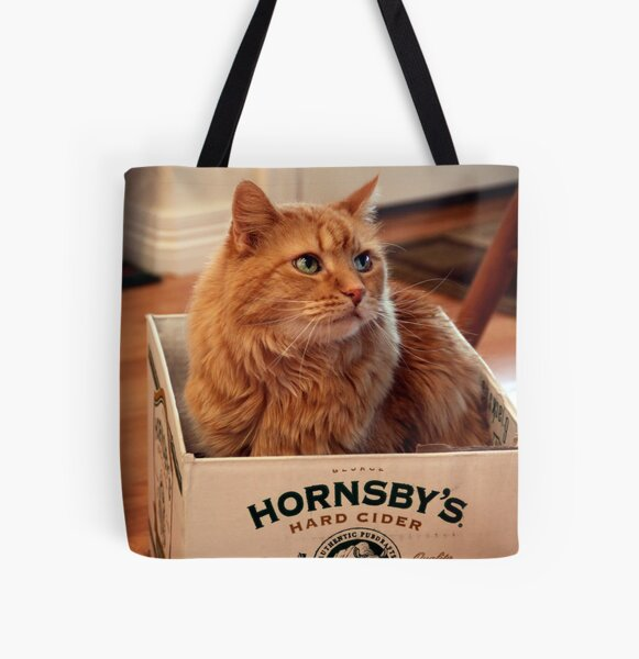 Cat in the Box All Over Print Tote Bag