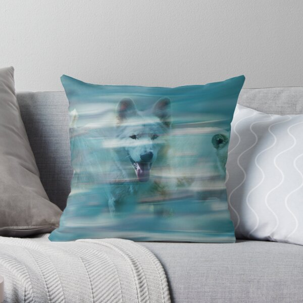 Running like the wind Throw Pillow
