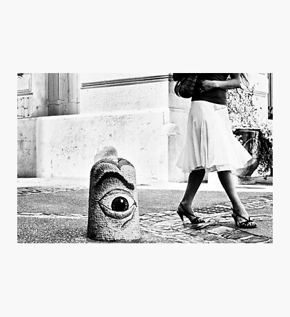 Street is watching... Photographic Print