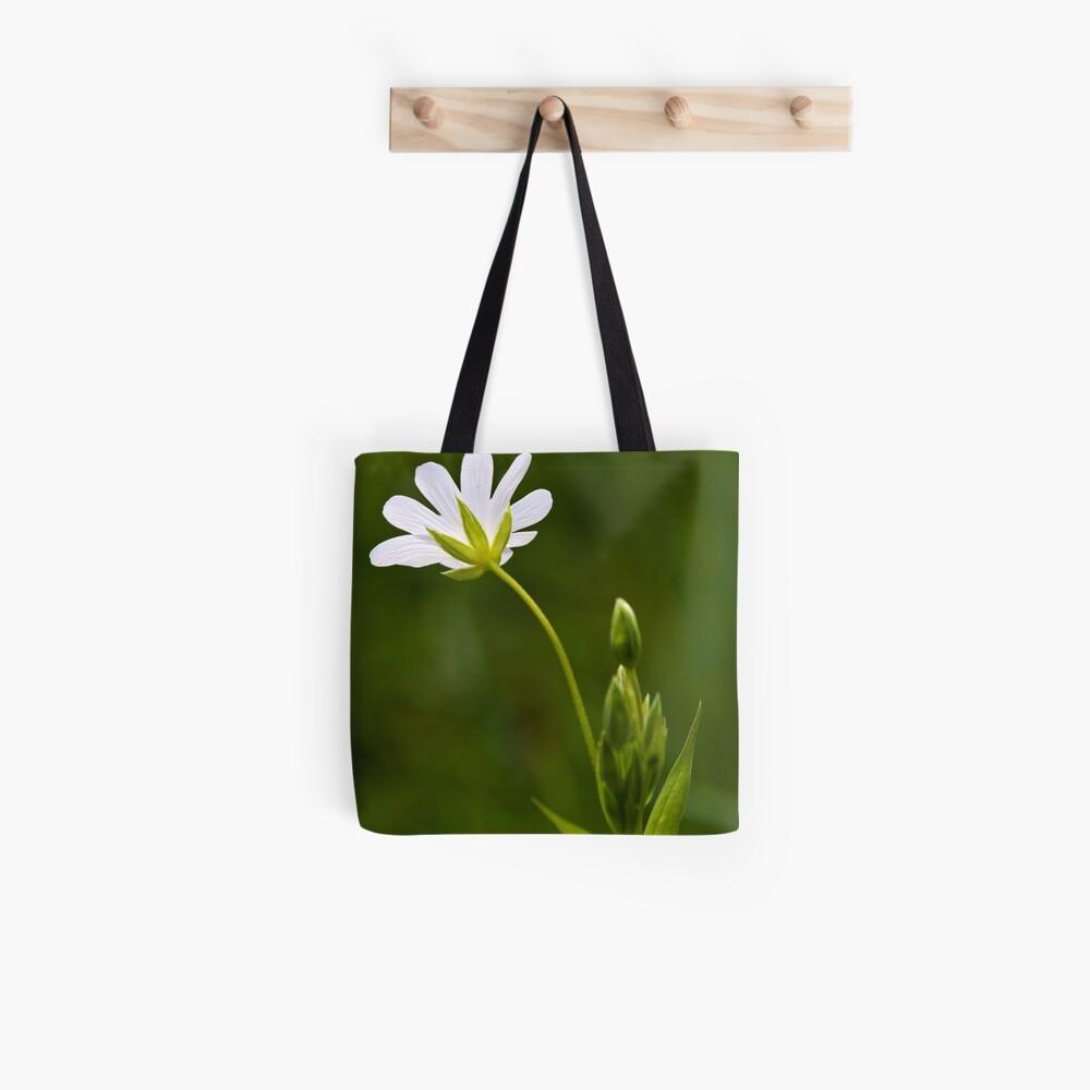 Greater Stitchwort (Stellaria palustris) Tote Bag