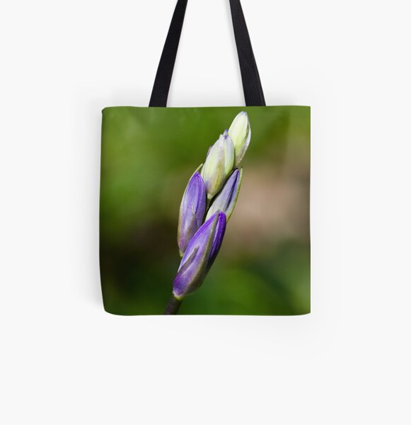Bluebell Bud (Hyacinthoides non-scripta) All Over Print Tote Bag