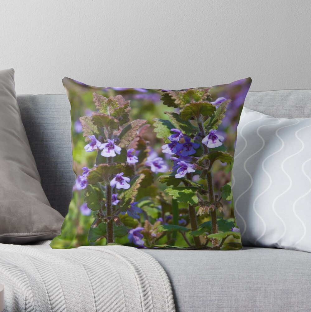 Ground Ivy (Glechoma hederacea) Throw Pillow