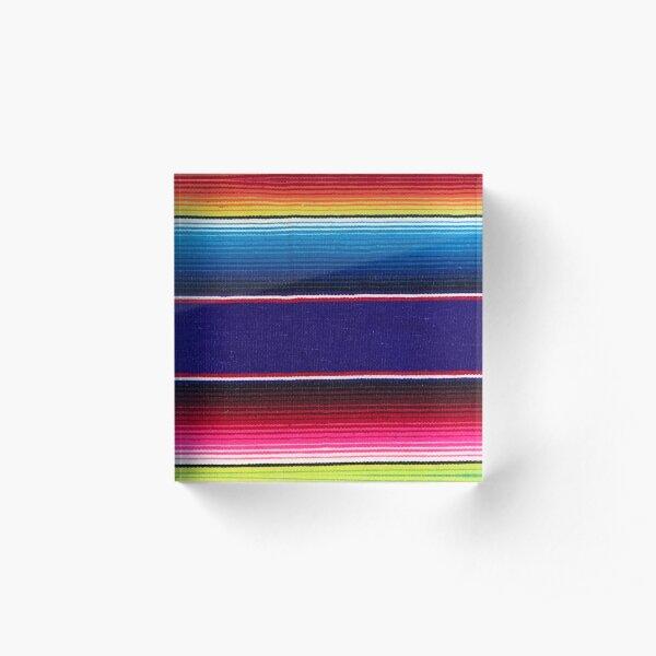 Serape of Mexico Acrylic Block