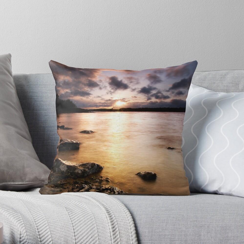 Colt Crag sunset Throw Pillow