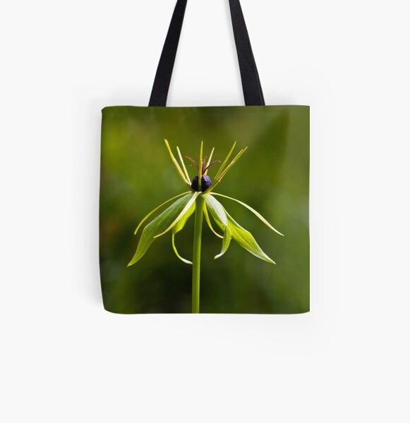 Herb Paris (Paris quadrifolia) All Over Print Tote Bag