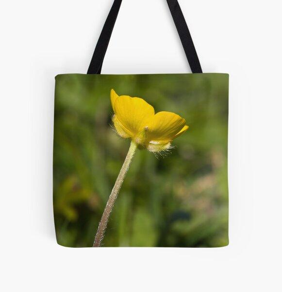 Creeping Buttercup (Ranunculus repens) All Over Print Tote Bag