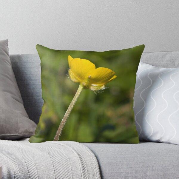 Creeping Buttercup (Ranunculus repens) Throw Pillow